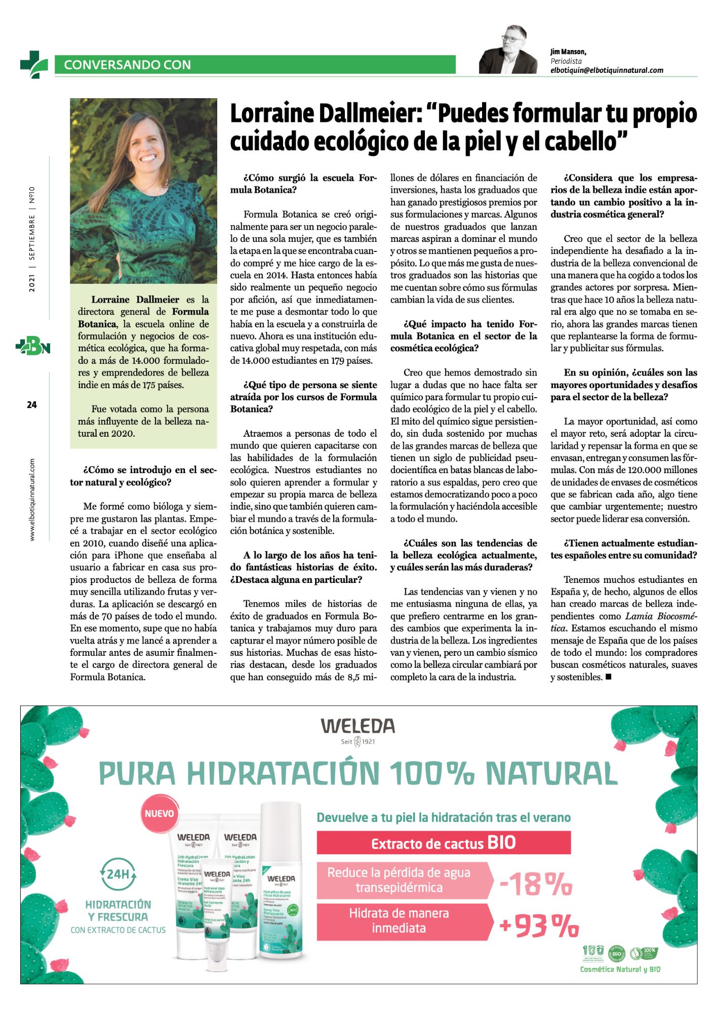 Lorraine Dallmeier - Interview 2021 Bio Eco Actual
